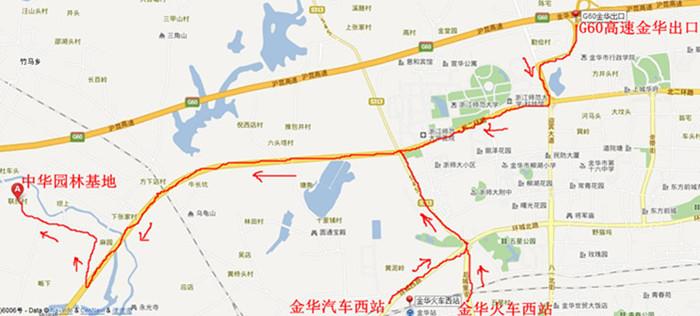 中华园林路线图